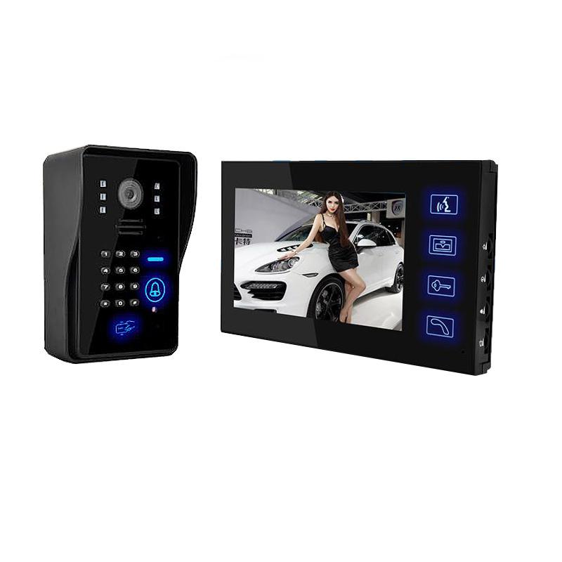 禾太可视对讲门铃家用简单高清有线别墅视频刷卡密码智能